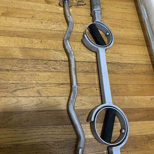 Weights, EZ Curl Bar, Rotating Grip Curl Bar for Sale in Falls Church, VA