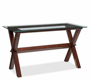 Pottery Barn Ava Desk / Table (Espresso Wood, Glass Top) for Sale in MIDDLE CITY WEST, PA