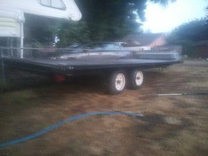 16 ft tandem axle flatbed trailer for Sale in Portland, OR