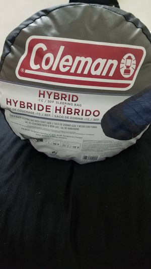 COLEMAN HYBRID -1°C / 30°F SLEEPING BAG for Sale in Long Beach, CA