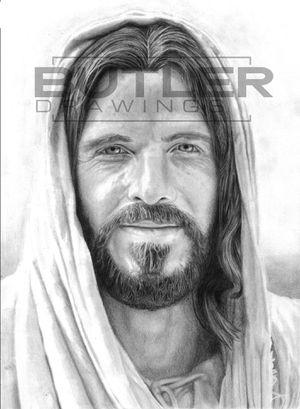 Hand Drawn Portrait of Jesus Christ for Sale in Orangeville, UT