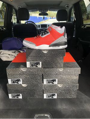 "Last Men's Size 7-15 Air Jordan 3 Retro ""Fire Red"" for Sale in Sunrise, FL"