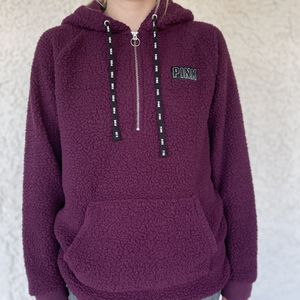 PINK Maroon Sherpa Hoodie for Sale in North Las Vegas, NV