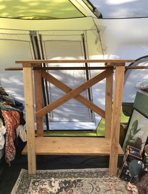 Clothing Rack - Homemade with reclaimed wood for Sale in Valley Center, CA