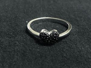 Sterling Silver Black Heart CZ Ring for Sale in Las Vegas, NV