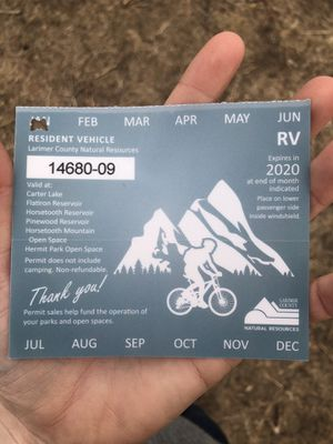 Larimer County Parks Pass for Sale in Fort Collins, CO