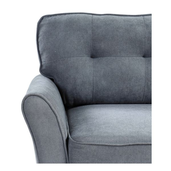 Brand New Tufted Sofa And Love Seat 2pcs in Dark Gray