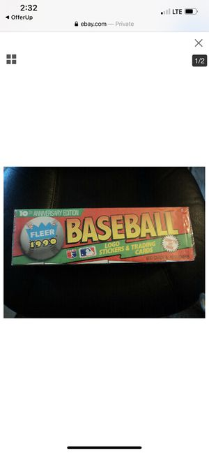 1990 FLEER FACTORY 10 year anniversary BASEBALL CARD SET for Sale in St. Cloud, FL