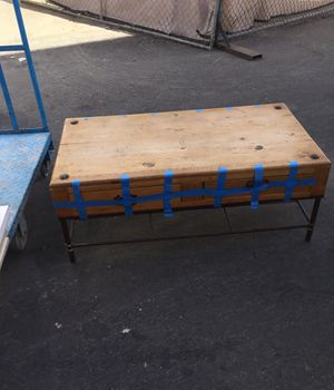 Antique wood and iron coffee table with 4 drawers. Very good condition. Make an offer. Pick up only. 4x2 for Sale in Las Vegas, NV