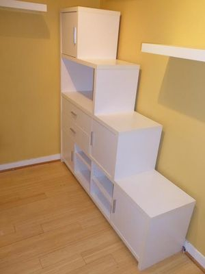 Large white bookcase with drawer - pick up this weekend for Sale in Washington, DC