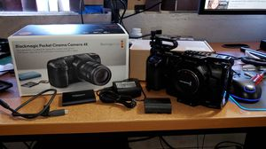 Blackmagic Pocket 4K w/ 1tb ssd and smallrig cage for Sale in Spring Valley, CA