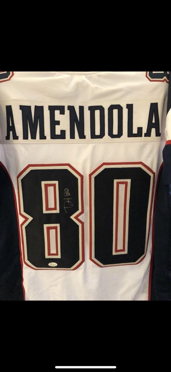 Danny Amendola Autographed white custom jersey XL JSA certified $200