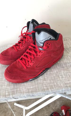 All red Jordan 5's Size 13 for Sale in Herndon, VA