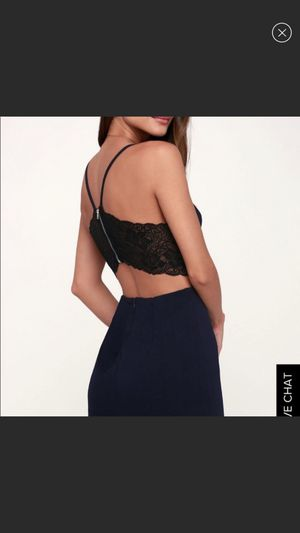 Lulu's navy blue with black lace cutout dress for Sale in Redwood City, CA
