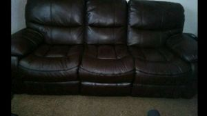 Chocolate Leather Recliner Sofa and Recliner Loveseat for Sale in Bartow, FL