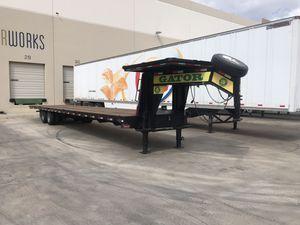 40' 2017 Gator Gooseneck Trailer tandem dual axle for Sale in Phoenix, AZ