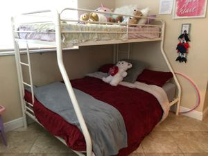 White Metal Bunk Bed Like New for Sale in Boca Raton, FL