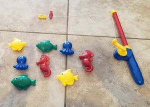Toy magnetic fishing set with carrying case for Sale in Glendale, AZ