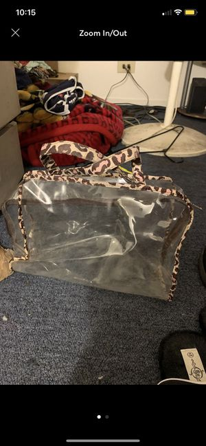 Clear makeup tote for Sale in West Monroe, LA