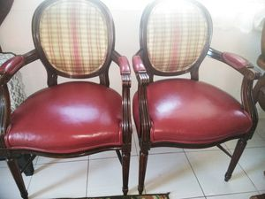 Antique burgundy Chairs* $50 Pair for Sale in Fairview, OR