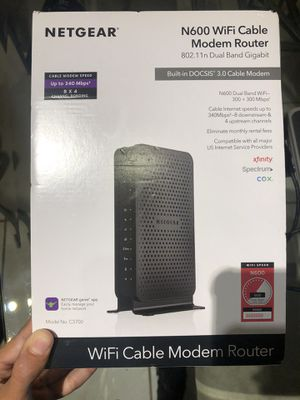 Netgear N600 wifi cable modem router for Sale in Miami Beach, FL