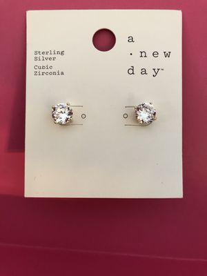 Sterling diamond earrings for Sale in Graham, WA