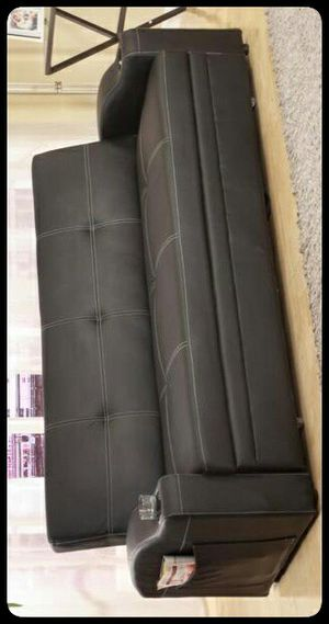 🚩SOFA🚩 Easton Futon Sofa Bed with Cup Holders for Sale in Brentwood, MD