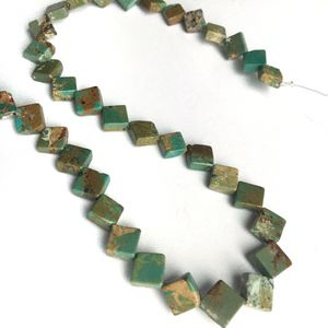 Turquoise flat cube beads drilled on point for Sale in Seattle, WA