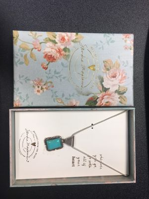 Sandra Magsamen Necklace with Turquoise Color Pendant for Sale in Washington, DC