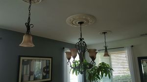 Set of chandelier and two pendants for Sale in Moreno Valley, CA