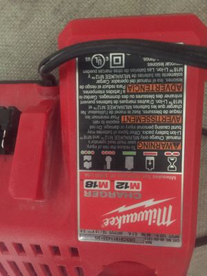 Milwaukee M18and M12 charger great condition $20 OBO for Sale in Lakeside, CA