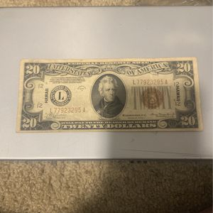 Red Stamp 1934A Hawaii Twenty Dollar Bill for Sale in Levittown, PA
