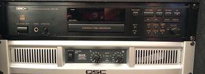 QSC GX5 POWER AMP and DENON CDR1000 CD Recorder for Sale for sale  Linden, NJ