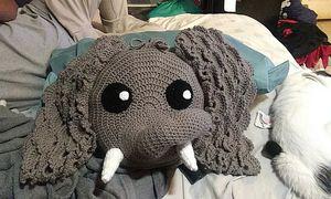 Crochet Elephant Pillow for Sale in Pico Rivera, CA