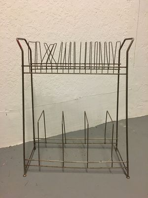 Vintage Metal Wire Vinyl Record Holder Storage 45s and/or LPs for Sale in Hialeah, FL