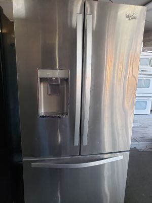 On Sale Whirlpool Refrigerator Fridge With Warranty French Door 3-Door #834 for Sale in Upland, CA
