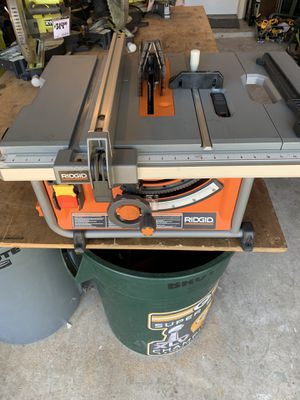 RIDGID 15 Amp Corded 10 in. Compact Table Saw w/ all attachments & blade (dewalt) - Great condition for Sale in Spring, TX