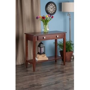Winsome Wood Richmond Console Table with Drawer, Walnut Finish for Sale in Houston, TX
