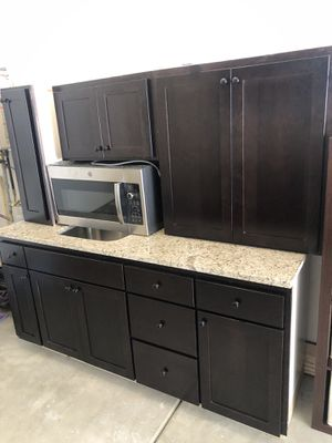 Brand new kitchen cabinets with granite and microwave for sale for Sale in Gresham, OR
