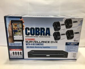 COBRA 8 CHANNEL SURVEILLANCE DVR WITH 4 HD CAMERAS SECURITY #63890 for Sale in Denver, CO