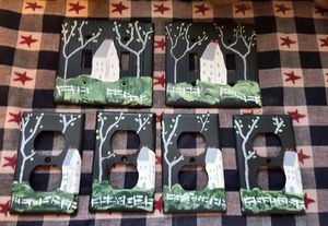 Primitive Handpainted switch plate covers and plug plate covers for Sale in West Lafayette, IN