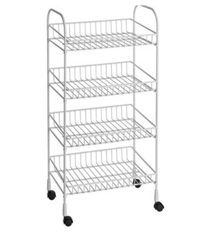 4 Tier Wire Utility Portable Cart For Storage or Home Closet Kitchen Pantry Organizing for Sale in Frisco, TX