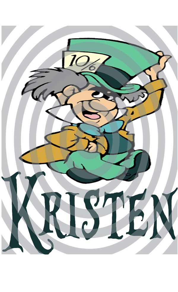 Personalized mad hatter poster or iron on