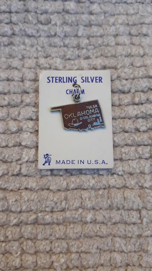 Oklahoma Vintage Sterling Silver Charm for Sale in Chandler, AZ