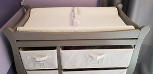 Baby changing table with canvas drawer storage. for Sale in Miami, FL