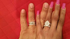 Wedding ring set bride and groom for Sale in Alexandria, VA