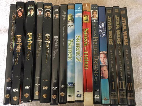 15 Family / Kids DVDs. Shrek, Harry Potter, Star Wars
