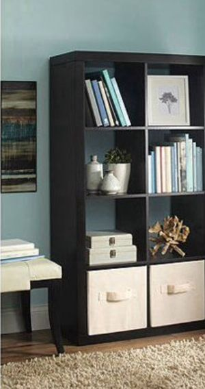 New!! 8 cube organizer, bookcase, bookshelves, organizer, living room furniture, storage unit , espresso for Sale in Phoenix, AZ