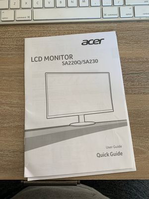 Acer Computer Monitor - Cord/Stand Not Included for Sale in Webster Groves, MO