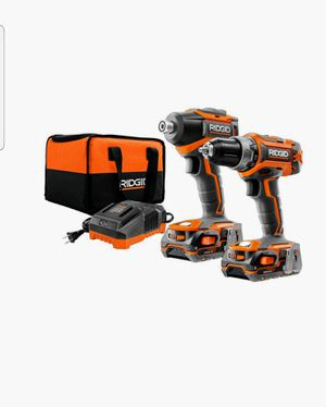 Brand New Rigid Drill Driver Combo-Brushless Motor-2 18V Batteries-Charger-Bag Included for Sale in Scottsdale, AZ